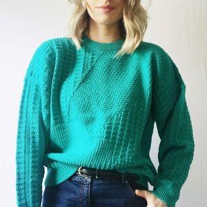Boho Vintage Oversized Chunky Cable Knit Sweater